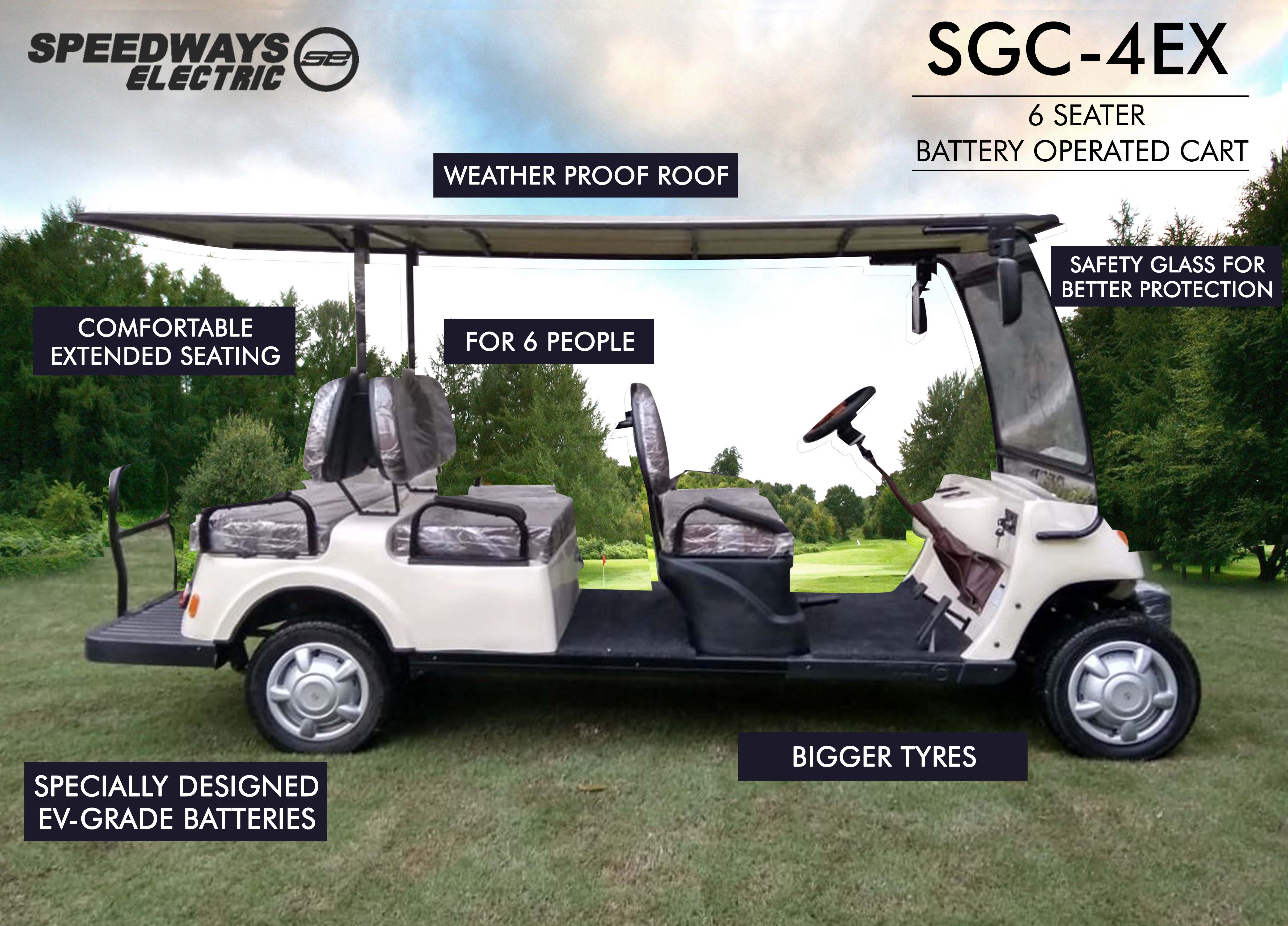 SGC4ex - Six Seater Electric Golf Cart