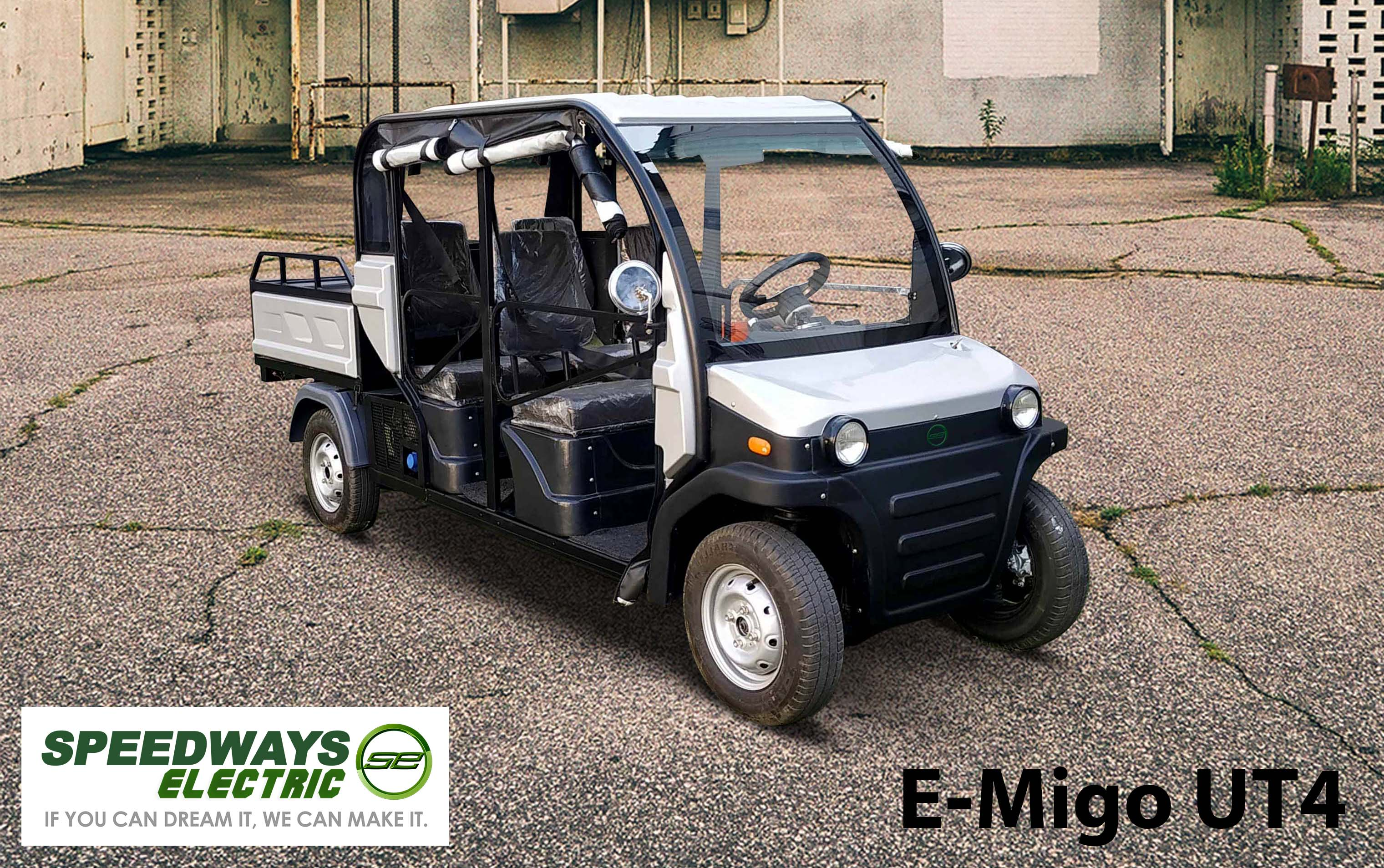 electric four wheel multi utility vehicle