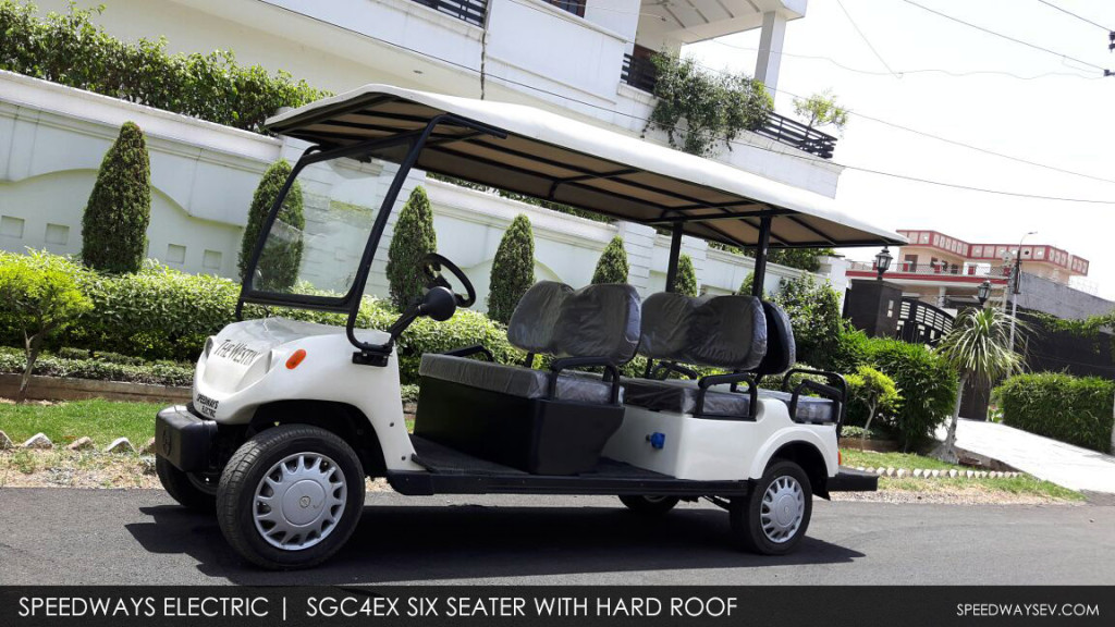 The SGC Golf Cart with Hard roof top