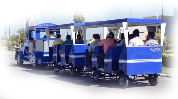 Coaches of Electric Train - custom designed blue train