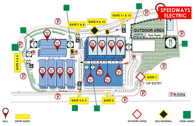 Delhi Auto Expo 2014 Venue Map
