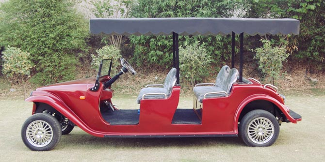 red-golf-cart-india