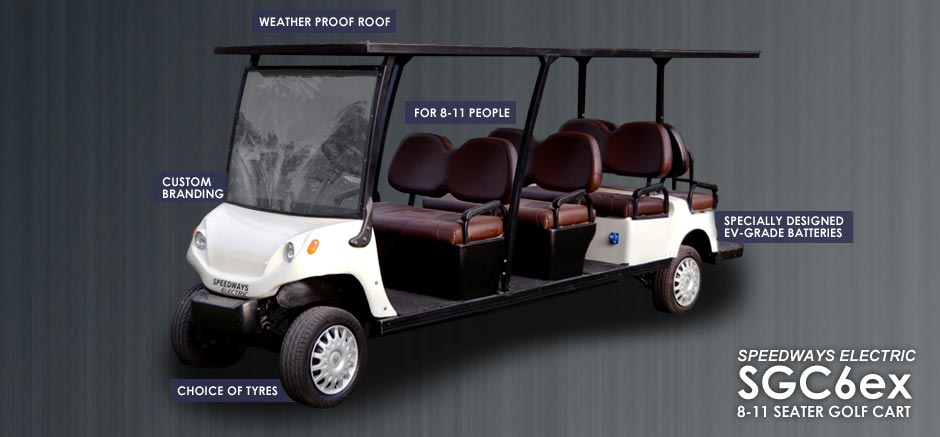 Features of our 8 seater golf cart